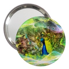 Peacock Digital Painting 3  Handbag Mirrors