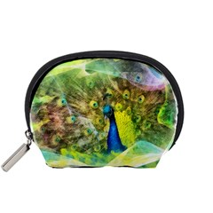 Peacock Digital Painting Accessory Pouches (small)  by Simbadda