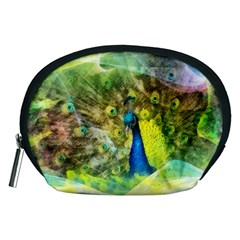 Peacock Digital Painting Accessory Pouches (medium)  by Simbadda
