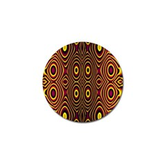 Vibrant Pattern Golf Ball Marker by Simbadda