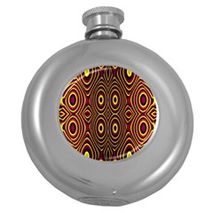 Vibrant Pattern Round Hip Flask (5 Oz) by Simbadda