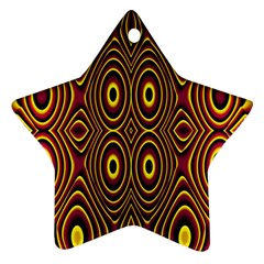 Vibrant Pattern Star Ornament (two Sides) by Simbadda