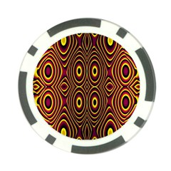 Vibrant Pattern Poker Chip Card Guard (10 Pack) by Simbadda
