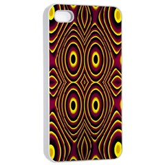 Vibrant Pattern Apple Iphone 4/4s Seamless Case (white) by Simbadda