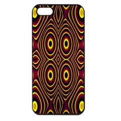 Vibrant Pattern Apple Iphone 5 Seamless Case (black) by Simbadda