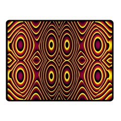 Vibrant Pattern Double Sided Fleece Blanket (small)  by Simbadda