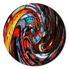 Abstract Chinese Inspired Background Magnet 5  (round) by Simbadda