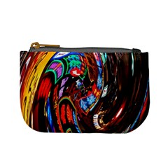 Abstract Chinese Inspired Background Mini Coin Purses by Simbadda