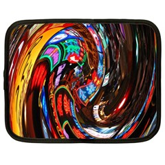 Abstract Chinese Inspired Background Netbook Case (xl)