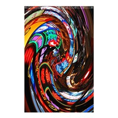 Abstract Chinese Inspired Background Shower Curtain 48  X 72  (small)  by Simbadda