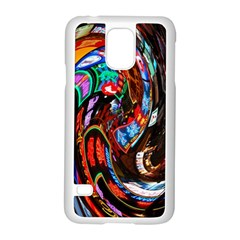Abstract Chinese Inspired Background Samsung Galaxy S5 Case (white) by Simbadda