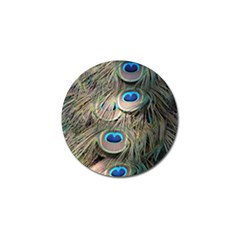 Colorful Peacock Feathers Background Golf Ball Marker (4 Pack) by Simbadda