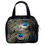 Colorful Peacock Feathers Background Classic Handbags (2 Sides) Front