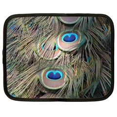 Colorful Peacock Feathers Background Netbook Case (xl)  by Simbadda