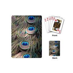 Colorful Peacock Feathers Background Playing Cards (mini)