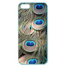 Colorful Peacock Feathers Background Apple Seamless Iphone 5 Case (color)