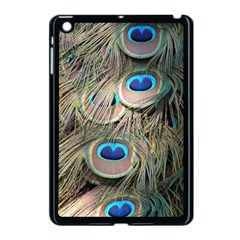 Colorful Peacock Feathers Background Apple Ipad Mini Case (black) by Simbadda