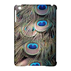 Colorful Peacock Feathers Background Apple Ipad Mini Hardshell Case (compatible With Smart Cover) by Simbadda