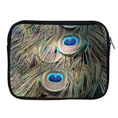 Colorful Peacock Feathers Background Apple Ipad 2/3/4 Zipper Cases