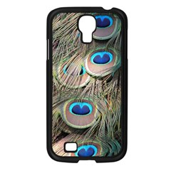 Colorful Peacock Feathers Background Samsung Galaxy S4 I9500/ I9505 Case (black)