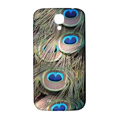 Colorful Peacock Feathers Background Samsung Galaxy S4 I9500/i9505  Hardshell Back Case