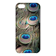 Colorful Peacock Feathers Background Apple Iphone 5c Hardshell Case by Simbadda