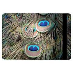 Colorful Peacock Feathers Background Ipad Air Flip by Simbadda