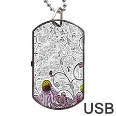 Abstract Pattern Dog Tag Usb Flash (one Side) by Simbadda