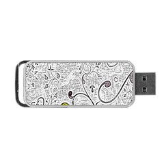 Abstract Pattern Portable Usb Flash (one Side) by Simbadda