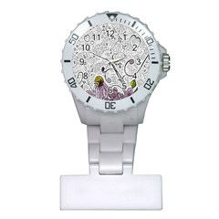 Abstract Pattern Plastic Nurses Watch by Simbadda