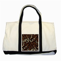 Background Fabric Animal Motifs Two Tone Tote Bag by Simbadda