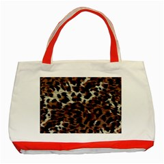 Background Fabric Animal Motifs Classic Tote Bag (red) by Simbadda