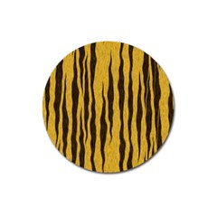 Seamless Fur Pattern Magnet 3  (round) by Simbadda