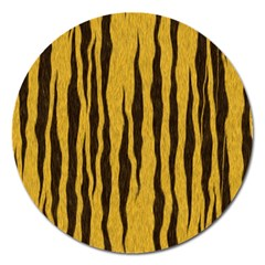 Seamless Fur Pattern Magnet 5  (round) by Simbadda