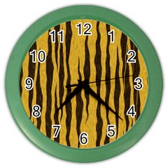 Seamless Fur Pattern Color Wall Clocks by Simbadda