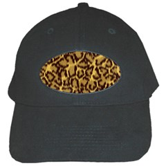 Seamless Animal Fur Pattern Black Cap