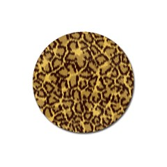 Seamless Animal Fur Pattern Magnet 3  (round) by Simbadda
