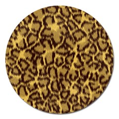 Seamless Animal Fur Pattern Magnet 5  (round) by Simbadda