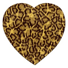 Seamless Animal Fur Pattern Jigsaw Puzzle (heart) by Simbadda