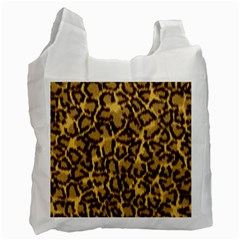 Seamless Animal Fur Pattern Recycle Bag (one Side) by Simbadda