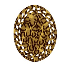 Seamless Animal Fur Pattern Oval Filigree Ornament (two Sides) by Simbadda