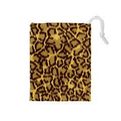 Seamless Animal Fur Pattern Drawstring Pouches (medium)  by Simbadda