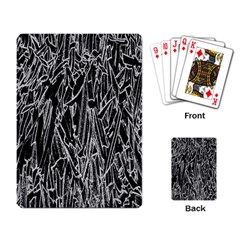 Gray Background Pattern Playing Card by Simbadda