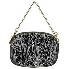 Gray Background Pattern Chain Purses (two Sides)  by Simbadda