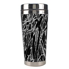 Gray Background Pattern Stainless Steel Travel Tumblers by Simbadda