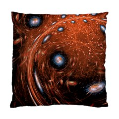 Fractal Peacock World Background Standard Cushion Case (one Side) by Simbadda