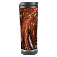 Fractal Peacock World Background Travel Tumbler by Simbadda