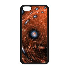 Fractal Peacock World Background Apple Iphone 5c Seamless Case (black) by Simbadda