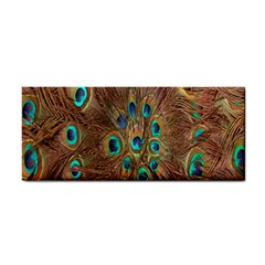 Peacock Pattern Background Cosmetic Storage Cases by Simbadda