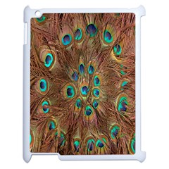 Peacock Pattern Background Apple Ipad 2 Case (white) by Simbadda